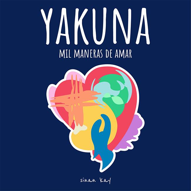Pegatina Azul (55x55mm) - Yakuna
